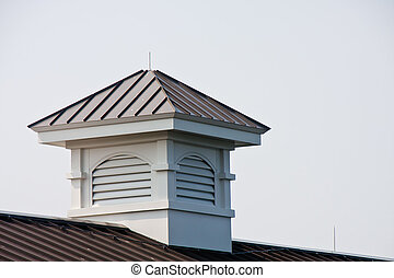 Wood Cupola with Metal Roof - A new wood cupola with a metal...