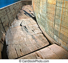 concrete structure - close-up concrete structure (dam photo)