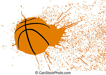 sport abstract background - vector illustration (basketball...