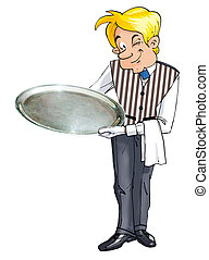 butler - Butler helds silver tray
