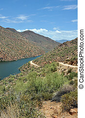 Apache lake - Apache trail near Apache lake