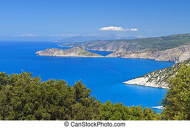 Kefalonia island in Greece at the ionian sea. Area of Assos