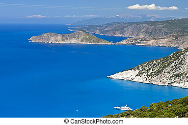 Kefalonia island in Greece at the ionian sea Area of Assos