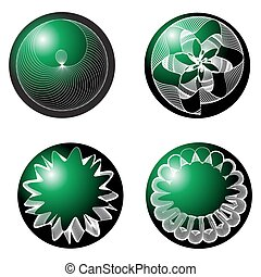 Abstract spheres green