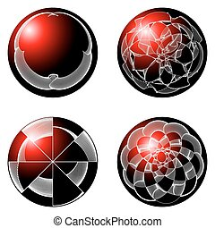 Abstract spheres red