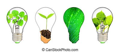 Green energy concept - save green planet