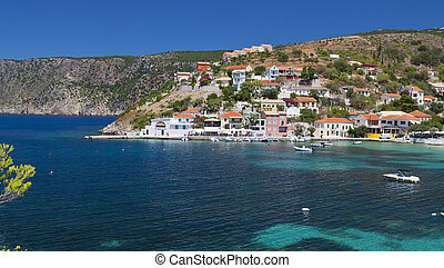 Traditional fishing village at Kefalonia - Traditional...