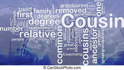 Cousin background concept - Background concept wordcloud...