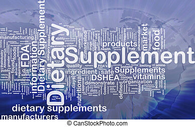 Dietary supplement background concept