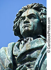 Beethoven - statue of Beethoven on a sunny day in Bonn