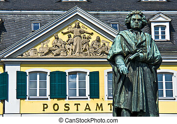 Beethoven - statue of Beethoven in front of the former post...