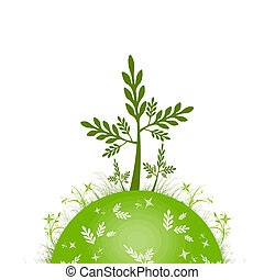 ECO GREEN  -  ECO green concept on white background
