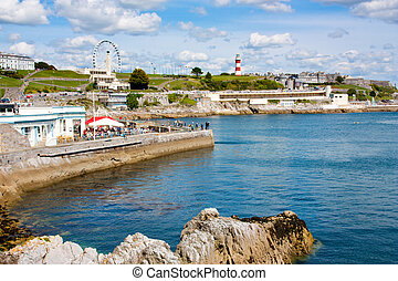 Plymouth Hoe - The sea front at Plymouth Hoe Devon England...