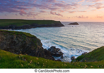 Porth Joke - Sunset at Porth Joke on the North Cornwall...