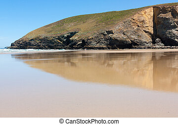 Mawgan Porth - Beach at Mawgan Porth near Newquay Cornwall...