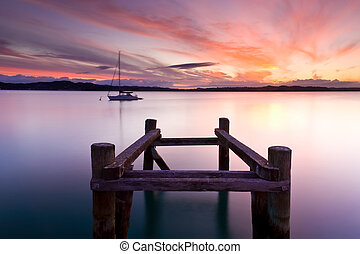 Russell Sunset - Russell in the Bay Of Islands North Island...