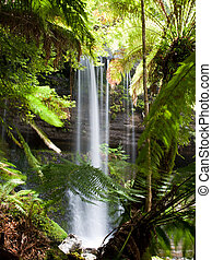 Russell Falls, Mount Field National Park, Tasmania,...