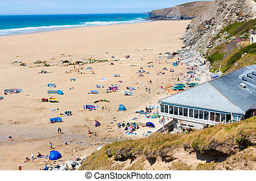 Watergate Bay - Overlooking Watergate Bay Cornwall England