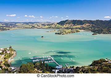 Whangaroa Harbour from St Paul Rock, North Island, New...