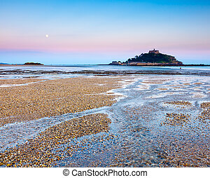 Dusk at Marazion - The beach at Marazion Cornwall England...