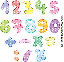 Polka dot numbers with stitches