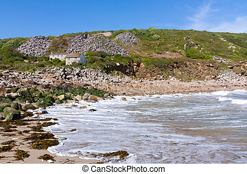 Lamorna Cove - On the harbour beach at Lamorna Cove Cornwall...