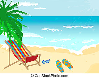 Beach background with different details