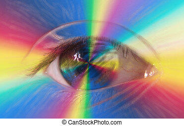 eye - A human eye in colored light