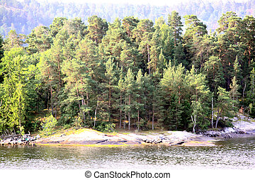 Lonely island in Sweden, Archipelago - Lonely island in...