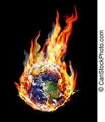 globe fire - globe in the fire and smoke