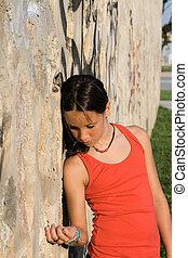 sad lonely unhappy bullied child alone