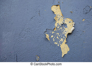 Peeling paint on an old  house