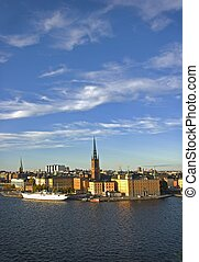 Riddarholmen - The island Riddarholmen in Stockholm at...