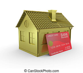 Plastic card payments for home