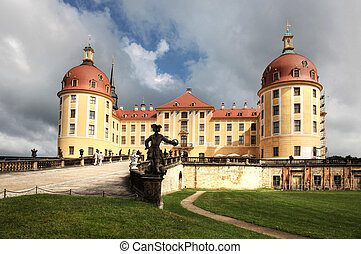 Moritzburg Saxony - the Moritzburg is a Baroque castle in...