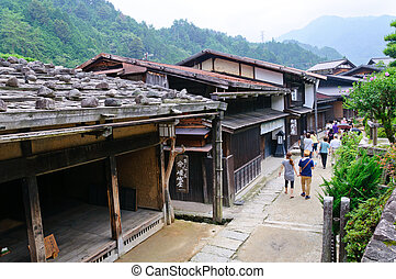 Tsumago-juku. It was the forty-second of the sixty-nine...
