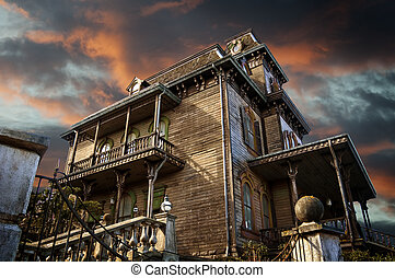 Delighted house, mansion of the terror, nightmare