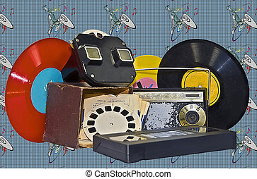 Decades of Entertainment - Old much used and grungy items...