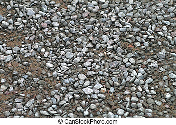 gravel road - road pebble gray small scattered on the road