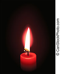 red candle flame illustration