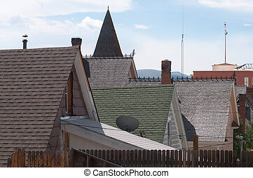 Leadville Roofs - Roofs of historic buildings in Leadville,...