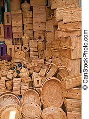 tejido, cestería, Tienda, Ubud
