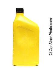 Container of Oil - An isolated shot of an automobile oil...