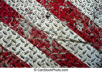 Old metal diamond plate - Background of old metal diamond...