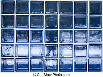 Glass textrue - A glass blue texture made of many little...