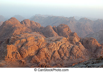 Sinai sunrise - Sunrise over Sinai mounts, Egypt