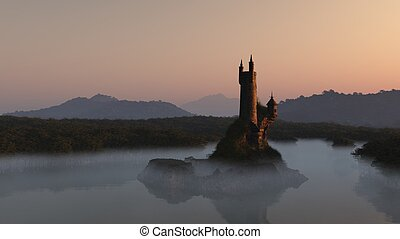 Wizards Tower at Sunrise