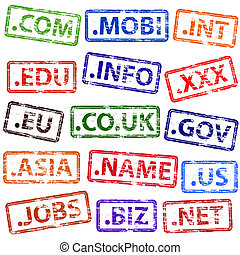 Domain Name Rubber Stamps - Domain name rubber stamp...