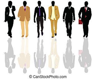 Silhouettes of fashion men
