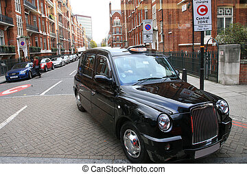 London Taxi - Taxi in the street of London. Cabs, Taxis, are...